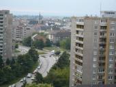 Pohled na Přerov z budovy Trávník 33