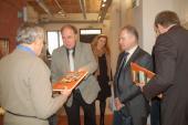 S gratulací se připojili  primátor Jiří Lajtoch a vystavovatel Břetislav Passinger