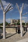 Sochy na Tyršově mostě