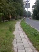 Cyklostezka Osmek - před stavbou