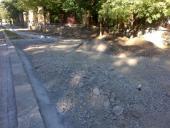 Cyklostezka Osmek - v průběhu stavby