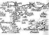 Strážnice s okolím na mapě Moravy Pavla Fabricia z roku 1575