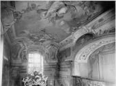 Zámek Žerotínů - původní stav z doby kolem r. 1920 - Kaple se nyní obnovuje a vrátí se