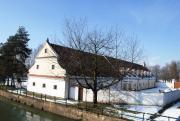 Z bývalého pivovaru je dnes vstupní budova do areálu Muzea vesnice jihovýchodní Moravy - v zimě