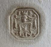 195 Pečeť Jana Fridricha z Žerotína na listině z roku 1614   Archív Skalica Slovensko