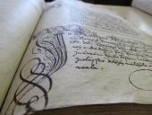 199 Záznam Kašpara Melichara z roku 1617 v knize práv města Strážnice   Archív Hodonín