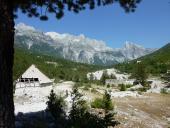 0058 Panorama hor nad Thethem,  Albánie