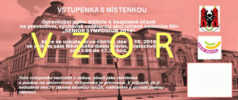 Vstupenka Senior symposium 2015 (2), obrázek se otevře v novém okně