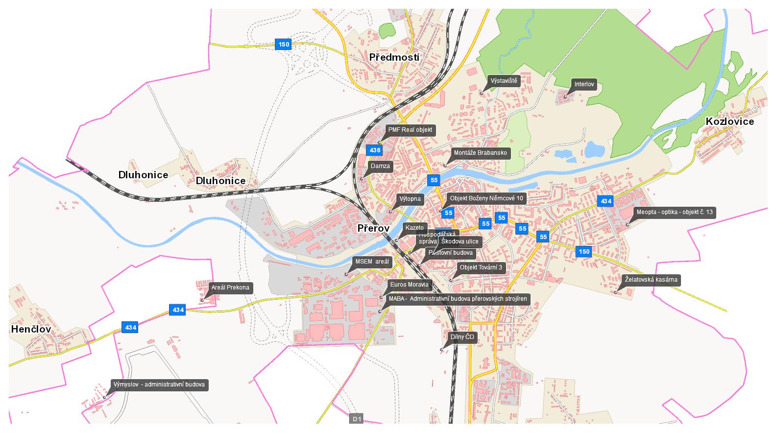 Brownfields mapa, obrázek se otevře v novém okně