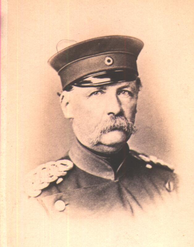 pruský generálmajor Julius von Hartmann, obrázek se otevře v novém okně