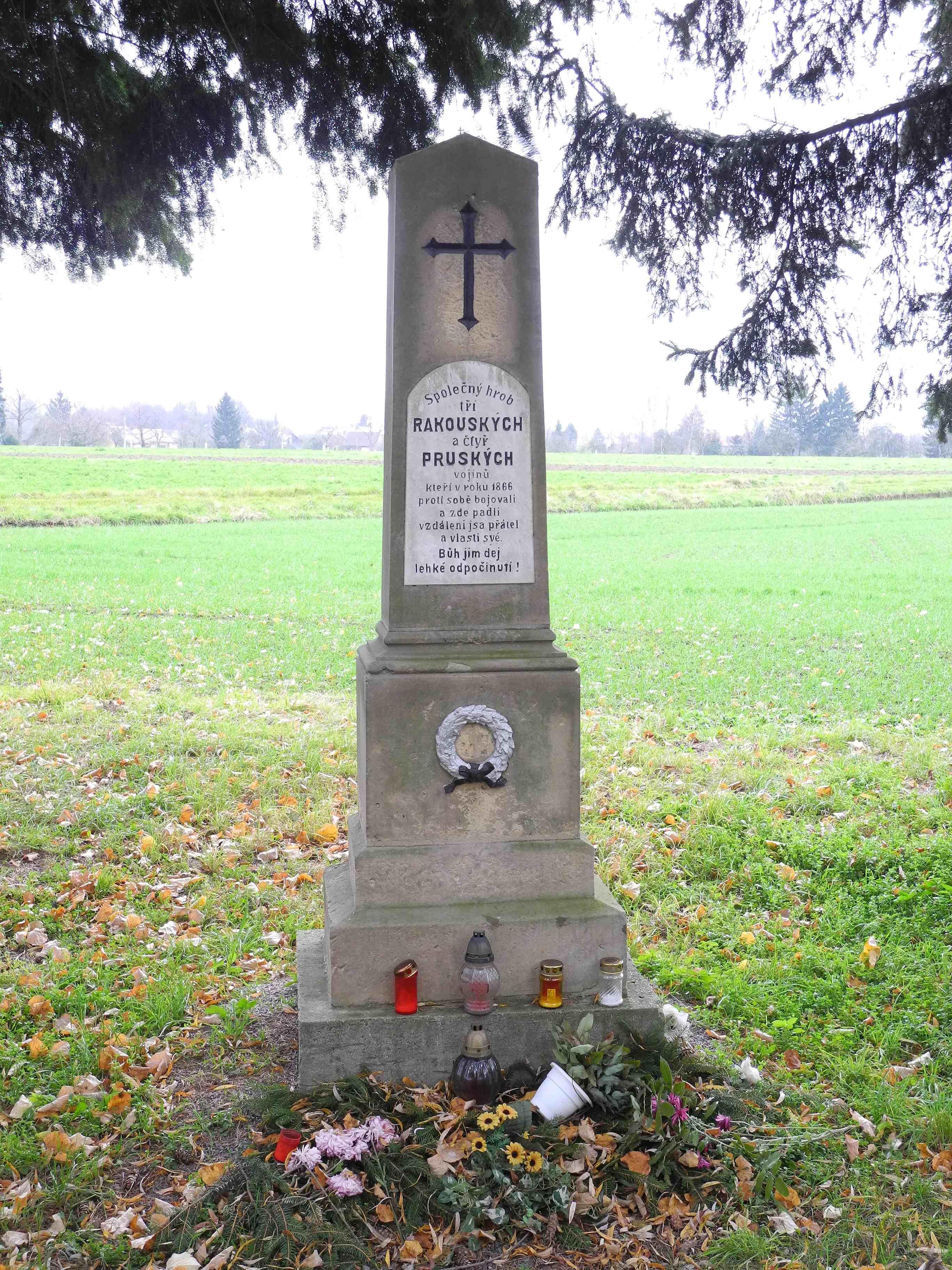Pomník obětí bojů 1866, obrázek se otevře v novém okně