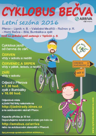 Cyklobus Bečva 2016