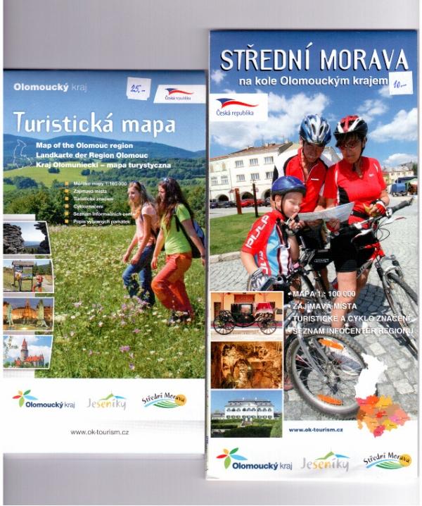 Mapy Olomouckého kraje, obrázek se otevře v novém okně