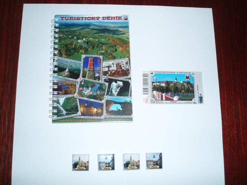 Turistický deník, vizitka, magnetky, obrázek se otevře v novém okně