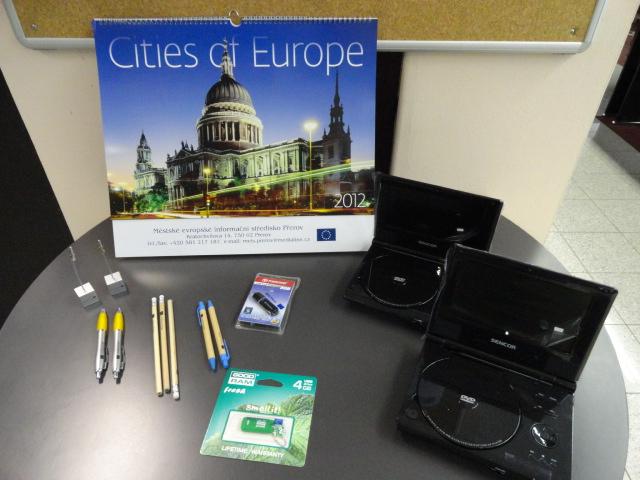 Odměny -  Eurokviz 2011, obrázek se otevře v novém okně