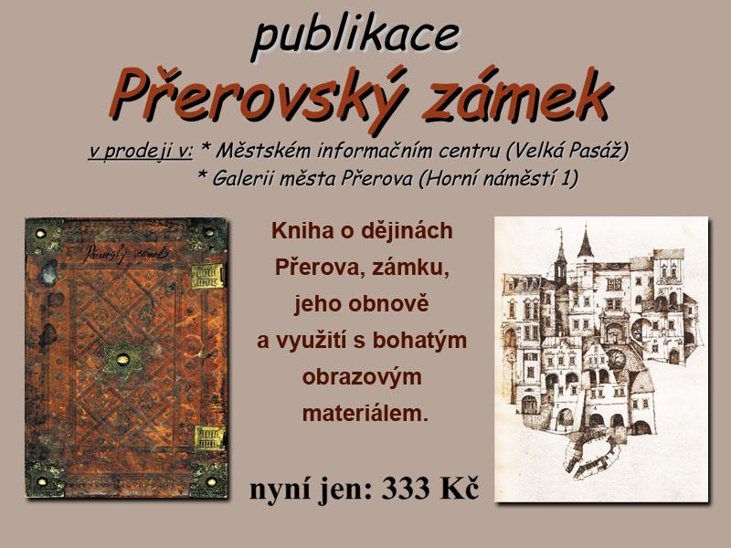 Kniha Přerovský zámek, obrázek se otevře v novém okně