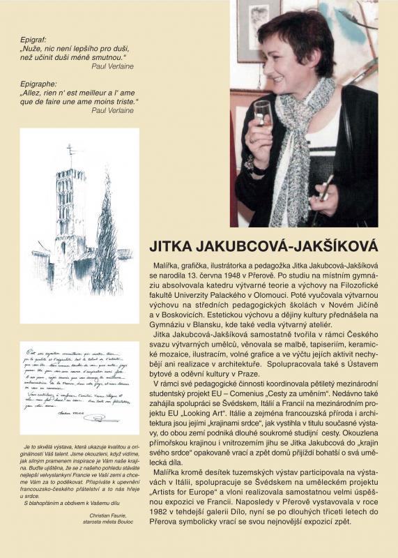 Jitka Jakubcová - Jakšíková poodkryje své Krajiny srdce