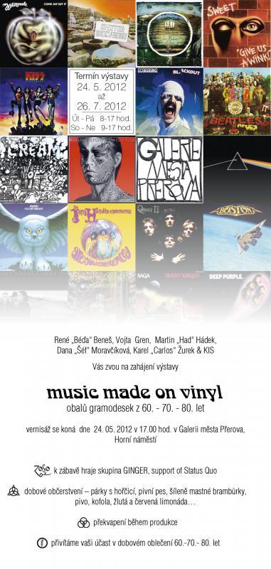 Music Made on Vinyl   pozvánka, obrázek se otevře v novém okně