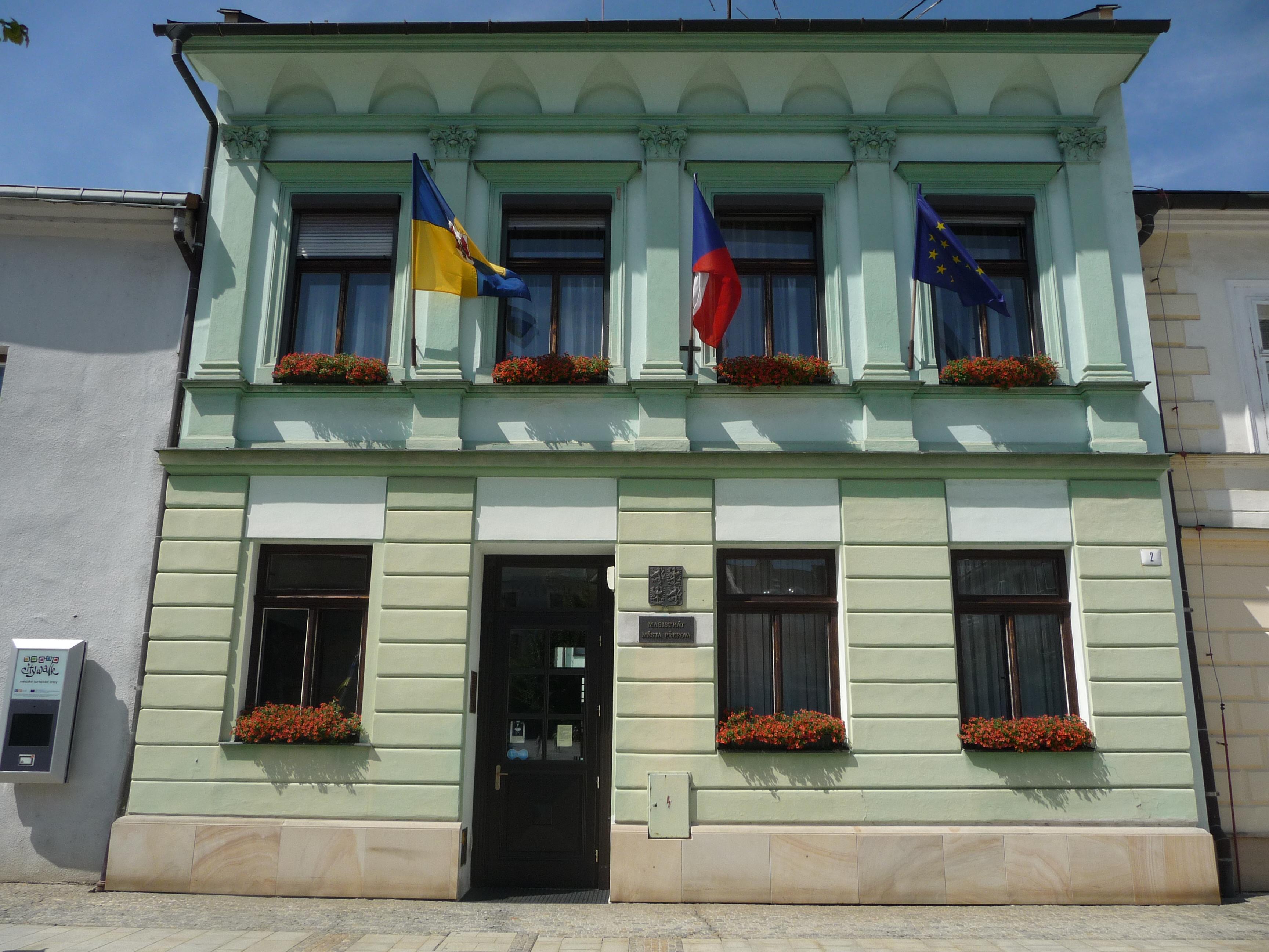 Přerov radnice, obrázek se otevře v novém okně