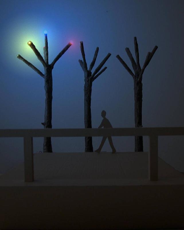 Světelné stromy, obrázek se otevře v novém okně