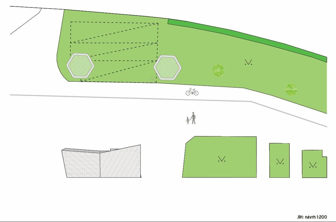 Nákres - jih, návrh řešení, obrázek se otevře v novém okně