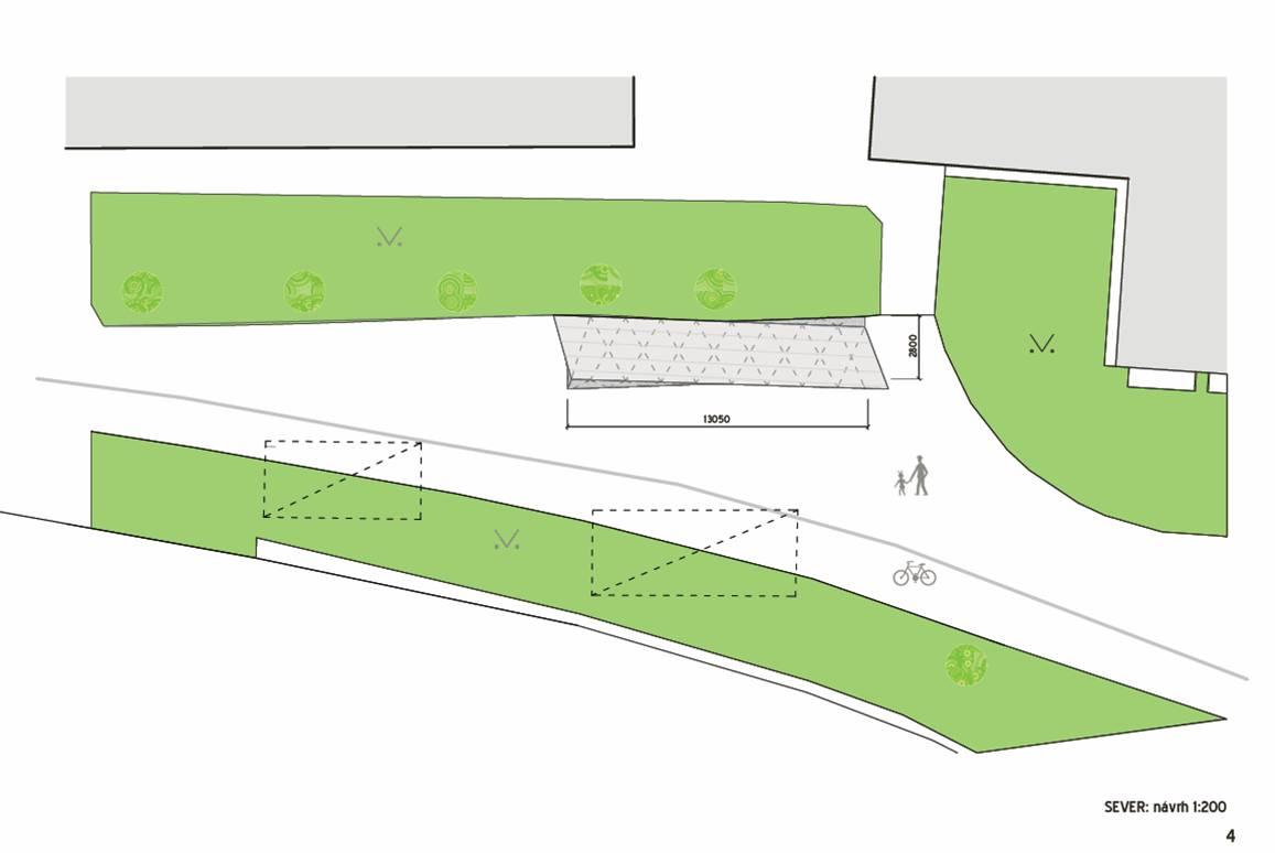 Nákres - sever, návrh řešení, obrázek se otevře v novém okně