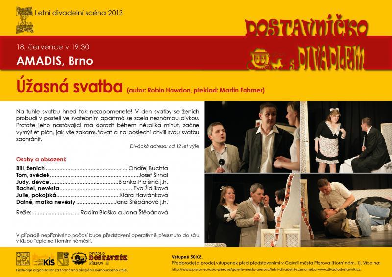 """Divadelní soubor AMADIS, Brno: """"Úžasná svatba"""", obrázek se otevře v novém okně"""