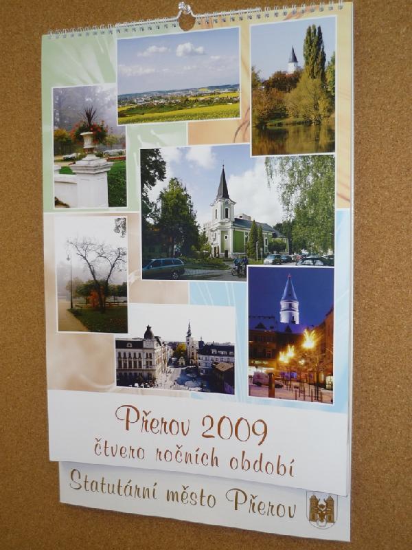 Nástěnný kalendář Přerov 2009 čtvero ročních období, obrázek se otevře v novém okně