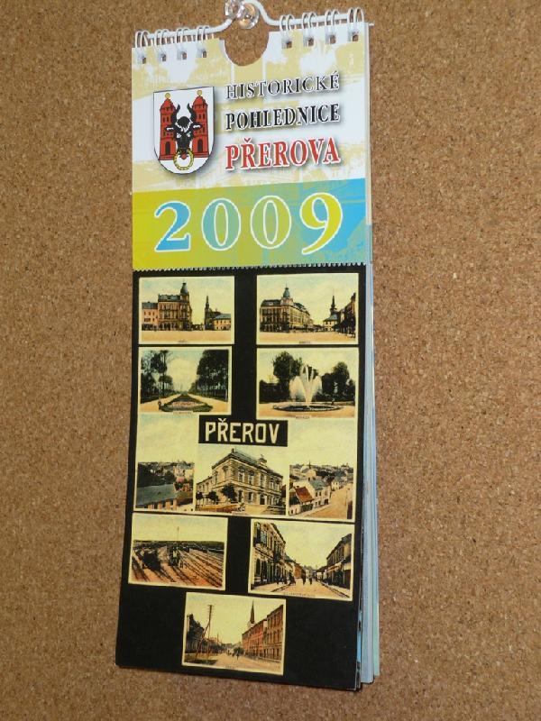 Nástěnný kalendář Historické pohlednice Přerova 2009, obrázek se otevře v novém okně