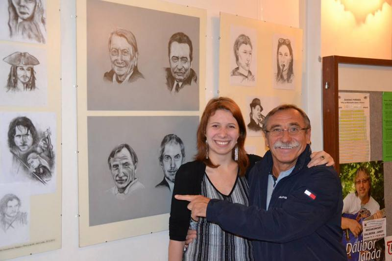Pavel Zedníček a Nela Greisslerová, obrázek se otevře v novém okně