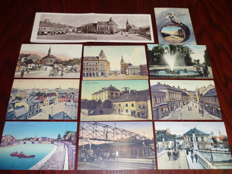 Soubor pohlednic starý Přerov, obrázek se otevře v novém okně