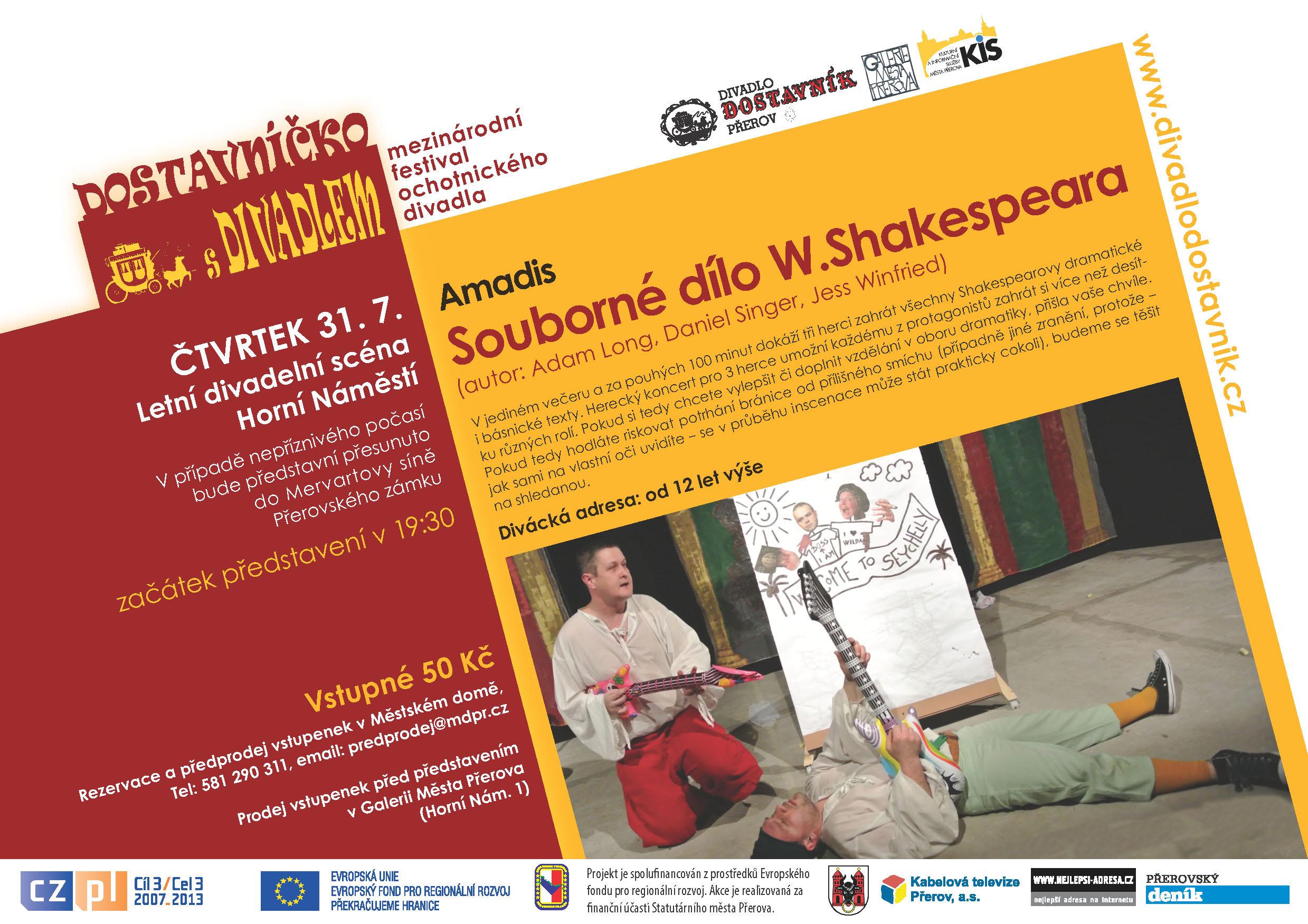 DS Amadis, Brno - Souborné dílo W. Shakespeara